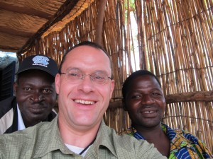 Selfie with my long-term research assistant Aime SOME (left) and TD OUEDRAOGO